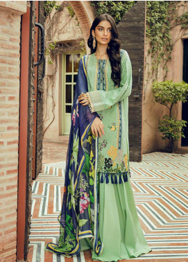 Saira Rizwan Embroidered Lawn Unstitched 3 Piece Suit SR20L-2 07 ORNA - Spring / Summer Collection