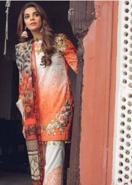 Saira Rizwan Embroidered Lawn Unstitched 3 Piece Suit SR19L 10 PHLOOAK - Spring / Summer Collection