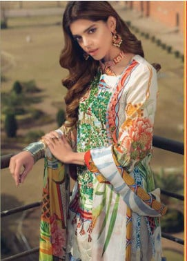 Saira Rizwan Embroidered Lawn Unstitched 3 Piece Suit SR19L 4 MOTIA - Spring / Summer Collection