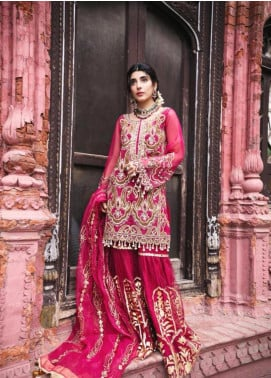 Saira Rizwan Embroidered Organza Unstitched 3 Piece Suit SR19NW AARSI - Bridal Wear Collection