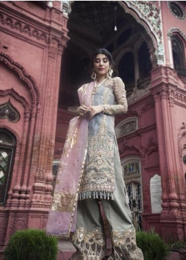 Saira Rizwan Embroidered Organza Unstitched 3 Piece Suit SR19NW SARUR - Bridal Wear Collection