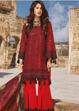 Sakura by Noor Textiles Embroidered Lawn Unstitched 3 Piece Suit SK19SC 02S - Spring / Summer Collection