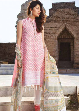 Sakura by Noor Textiles Embroidered Lawn Unstitched 3 Piece Suit SK19SC 03S - Spring / Summer Collection