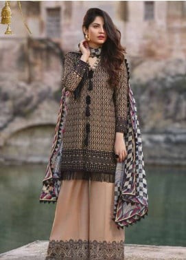 Sakura by Noor Textiles Embroidered Lawn Unstitched 3 Piece Suit SK19SC 04S - Spring / Summer Collection