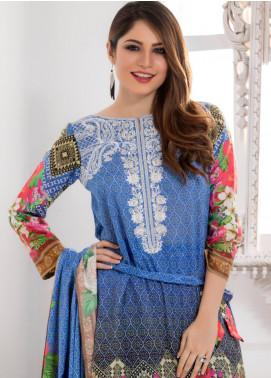 Salina Embroidered Lawn Unstitched 3 Piece Suit SAL18E 6A - Eid Collection