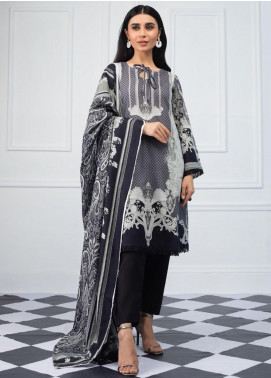 Salina by Regalia Textiles Printed Lawn Unstitched 3 Piece Suit SRG20BW 01 - Black & White Collection