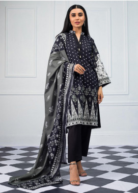 Salina by Regalia Textiles Printed Lawn Unstitched 3 Piece Suit SRG20BW 07 - Black & White Collection