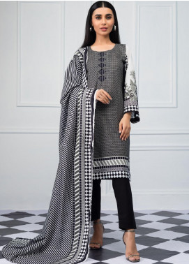 Salina by Regalia Textiles Printed Lawn Unstitched 3 Piece Suit SRG20BW 08 - Black & White Collection