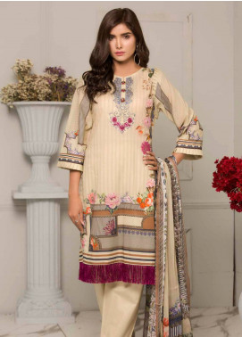 Salina by Regalia Textiles Embroidered Lawn Unstitched 3 Piece Suit SRG19F 04 - Festive Collection