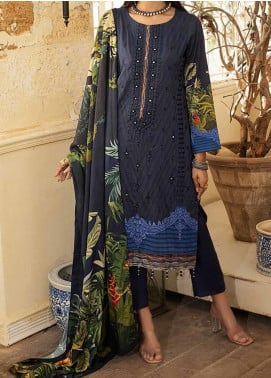 Salitex Embroidered Linen Unstitched 3 Piece Suit ST20LN 00614 - Winter Collection