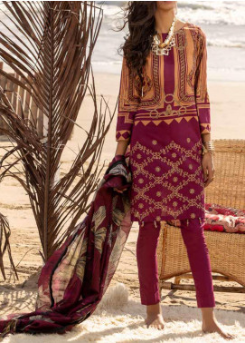 Salitex Embroidered Lawn Unstitched 3 Piece Suit ST20ET 495A - Spring / Summer Collection