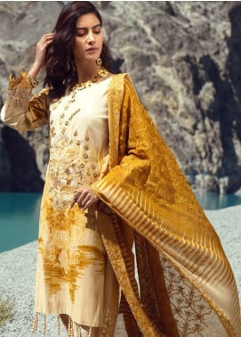 Salitex Embroidered Cambric Unstitched 3 Piece Suit ST19FC 396B - Winter Collection