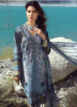 Salitex Embroidered Cambric Unstitched 3 Piece Suit ST19FC 400A - Winter Collection