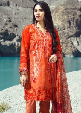Salitex Embroidered Cambric Unstitched 3 Piece Suit ST19FC 400B - Winter Collection