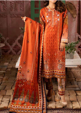 Salitex Printed Lawn Unstitched 3 Piece Suit ST20IL 4-A - Summer Collection