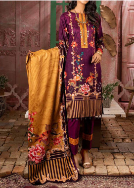 Salitex Printed Lawn Unstitched 3 Piece Suit ST20IL 5-A - Summer Collection