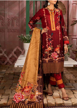 Salitex Printed Lawn Unstitched 3 Piece Suit ST20IL 5-B - Summer Collection