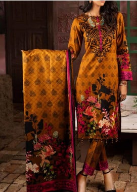 Salitex Printed Lawn Unstitched 3 Piece Suit ST20IL 7-B - Summer Collection