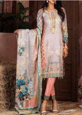 Salitex Printed Lawn Unstitched 3 Piece Suit ST20IL 8-A - Summer Collection