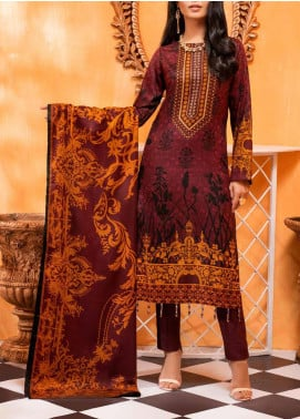 Salitex Printed Lawn Unstitched 3 Piece Suit ST20IL-2 22B Mehroon - Spring / Summer Collection