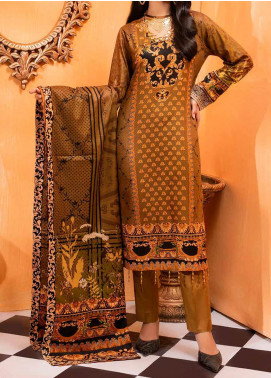 Salitex Printed Lawn Unstitched 3 Piece Suit ST20IL-2 23B Brown - Spring / Summer Collection