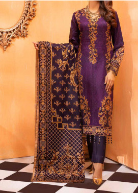 Salitex Printed Lawn Unstitched 3 Piece Suit ST20IL-2 26B Purple - Spring / Summer Collection