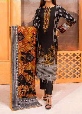 Salitex Printed Lawn Unstitched 3 Piece Suit ST20IL-2 27A Black - Spring / Summer Collection