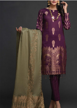 Salitex Embroidered Jacquard Unstitched 3 Piece Suit ST19-J2 401A - Luxury Collection