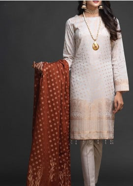 Salitex Embroidered Jacquard Unstitched 3 Piece Suit ST19-J2 402B - Luxury Collection