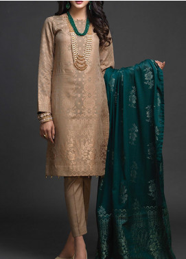 Salitex Embroidered Jacquard Unstitched 3 Piece Suit ST19-J2 403A - Luxury Collection