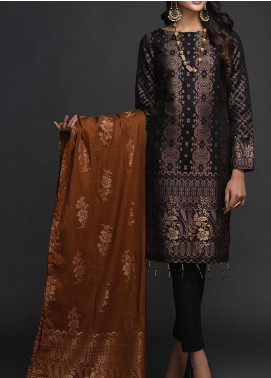Salitex Embroidered Jacquard Unstitched 3 Piece Suit ST19-J2 403B - Luxury Collection