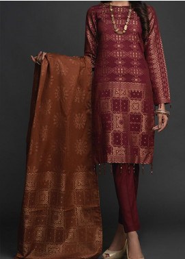 Salitex Embroidered Jacquard Unstitched 3 Piece Suit ST19-J2 404B - Luxury Collection