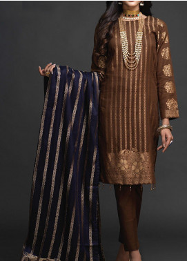 Salitex Embroidered Jacquard Unstitched 3 Piece Suit ST19-J2 405A - Luxury Collection