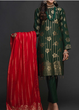 Salitex Embroidered Jacquard Unstitched 3 Piece Suit ST19-J2 405B - Luxury Collection