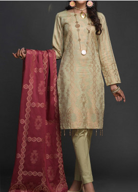 Salitex Embroidered Jacquard Unstitched 3 Piece Suit ST19-J2 406B - Luxury Collection