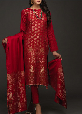 Salitex Embroidered Jacquard Unstitched 3 Piece Suit ST19-J3 428A - Luxury Collection