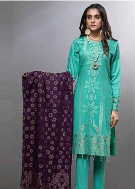 Salitex Embroidered Lawn Unstitched 3 Piece Suit ST20CJ-6 508 - Summer Collection
