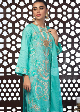 Salitex Embroidered Jacquard Unstitched 3 Piece Suit ST19E 305 - Festive Collection