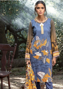 Salitex Embroidered Linen Unstitched 3 Piece Suit ST19LI 380-B - Winter Collection