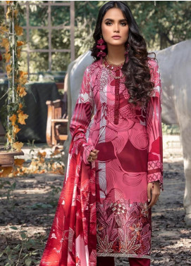 Salitex Embroidered Linen Unstitched 3 Piece Suit ST19LI 381-A - Winter Collection