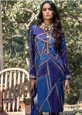 Salitex Embroidered Linen Unstitched 3 Piece Suit ST19LI 382-B - Winter Collection