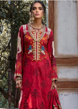 Salitex Embroidered Linen Unstitched 3 Piece Suit ST19LI 383-B - Winter Collection