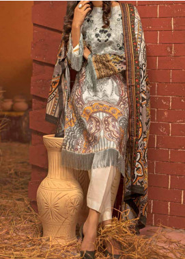 Salitex Embroidered Linen Unstitched 3 Piece Suit ST19LN 409 - Winter Collection