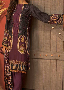 Salitex Embroidered Linen Unstitched 3 Piece Suit ST19LN 411 - Winter Collection