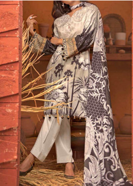 Salitex Embroidered Linen Unstitched 3 Piece Suit ST19LN 412 - Winter Collection