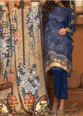 Salitex Embroidered Linen Unstitched 3 Piece Suit ST19LN 415 - Winter Collection