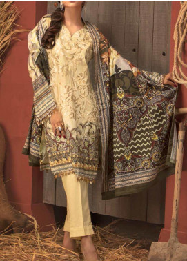 Salitex Embroidered Linen Unstitched 3 Piece Suit ST19LN 417 - Winter Collection