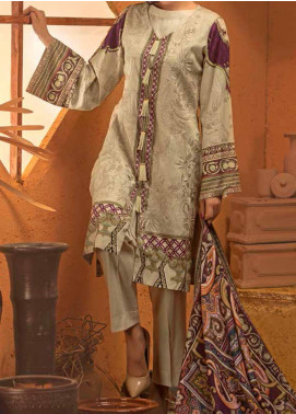 Salitex Embroidered Linen Unstitched 3 Piece Suit ST19LN 420 - Winter Collection