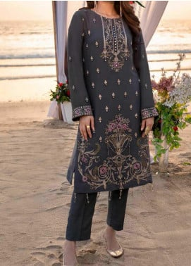 Salitex Embroidered Chiffon Unstitched Kurties S20LK WK-00624 DIAMOND STONE - Luxury Collection