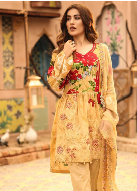 Salitex Embroidered Lawn Unstitched 3 Piece Suit ST19SF 291B - Festive Collection